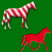 Christmas horse background tile for Twitter, Blogs or websites