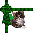 Free Cat Christmas Background Tile for websites, Blogs or Twitter