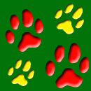 Free Holiday pet print background tile for Twitter, Blogs or Websites