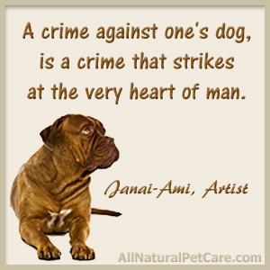 Animal abuse awareness graphic