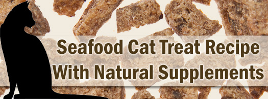 Seafood Cat Treat Recipe with Natural Supplements
