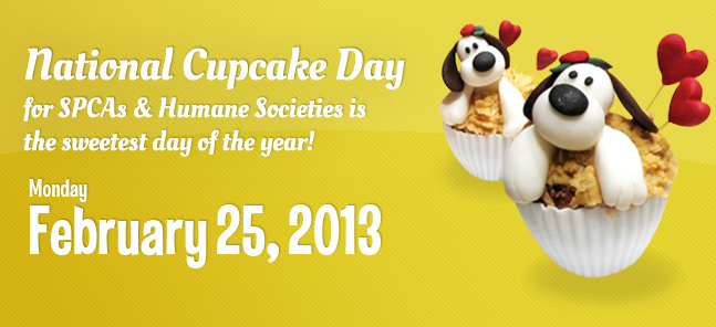 Canada's National Cupcake Day SPCA Humane Societies - February 25th