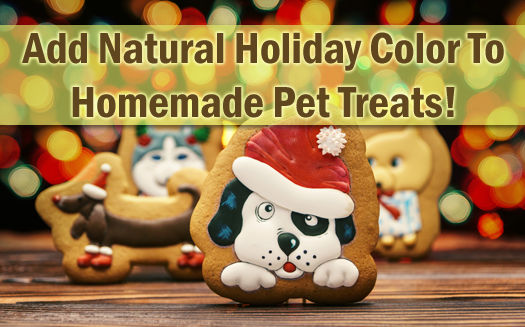 Add Natural Holiday Colour To Homemade Pet Treats!