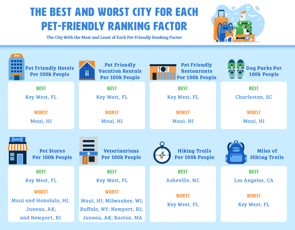 The Best and Worst City for US Pet Vacations